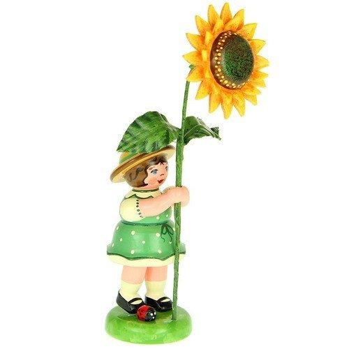 Hubrig-Volkskunst Blumenmädchen mit Sonnenblume * Höhe 11cm