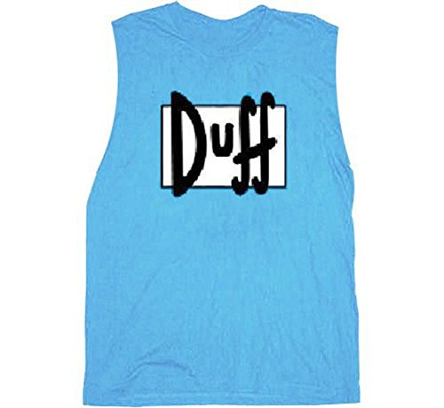 Simpsons Simpsons Duff Beer Light blau Sleeveless Erwachsene T-Shirt (Large)