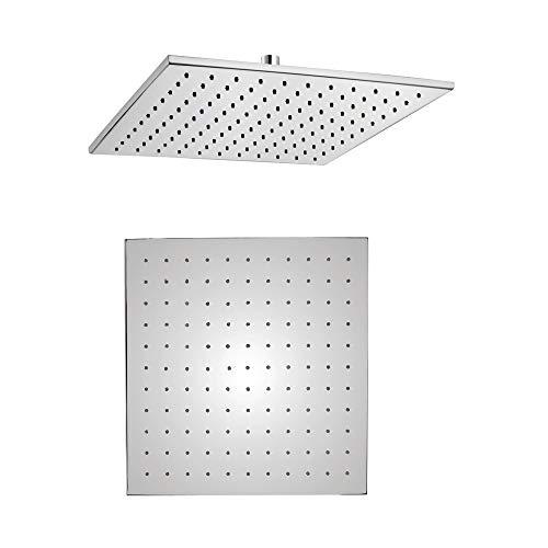 Ogomondo Soffione Doccia LED Square Quadrato Monogetto In Ottone Cromato