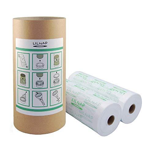 Recarga para manguitos multicapa ligeramente perfumada con tratamiento antiolores EVOH compatible con recambios Sangenic Tommee Tippee, Sangenic Tec y Sangenic Twist & Click (400 m + tubo)