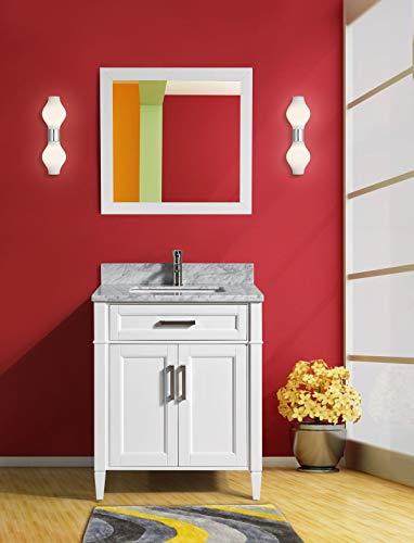 Vanity Art 30 Inch Single Sink Bathroom Vanity Set | Carrara Marble -