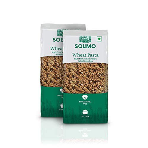 Amazon Brand - Solimo Durum Wheat Penne Pasta, 500g Pack of 2