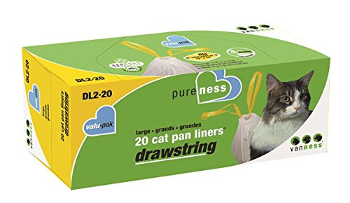 Price comparison product image Van Ness Large Drawstring Valu-Pak Cat Pan Liners,  20 Count