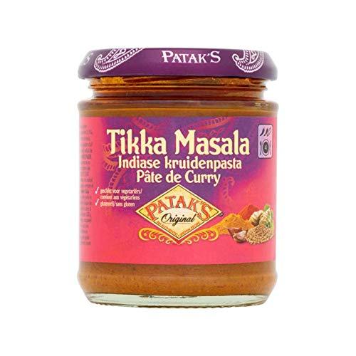 Tikki Masala Paste | Patak's | Original Tikka Masala Indische Gewürzpaste | Gesamtgewicht 165 Gramm