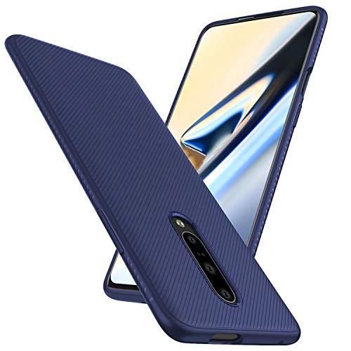 FGXG Hülle Kompatibel mit Oneplus 7 Pro Handyhülle.Silikon Schutzhülle, Ultra Thin Tasche Cover,stoßfeste TPU Schutzhülle, ultradünne & langlebige Hülle(Blau)
