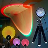 SELFILA Multicolor Sunset Projection Lamp ,16 Modes 360° Rotation Projector Rainbow Light USB RGB Sunset Lamp, for Party Theme Bedroom Decor