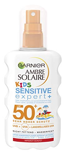 Garnier - Ambre solaire sensitive expert plus, proteccion solar para ninos factor 50 plus, (1 x 200 ml)