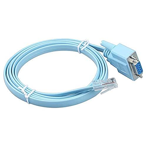 LeftSuper Rj45 till Rs23 nätverkskabeladapter Rj45 till Rs232 nätverkskabel till seriekabel 1,5 M Cisco Db9 / Com-port nätverkskabel till seriekabelnätverk