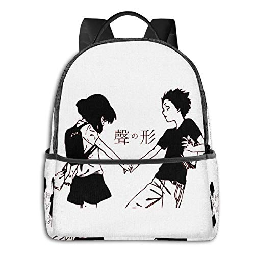 IUBBKI Anime & A Silent Voice Shoya And Shoko Student School Bag School Cycling Leisure Travel Camping Outdoor Backpack