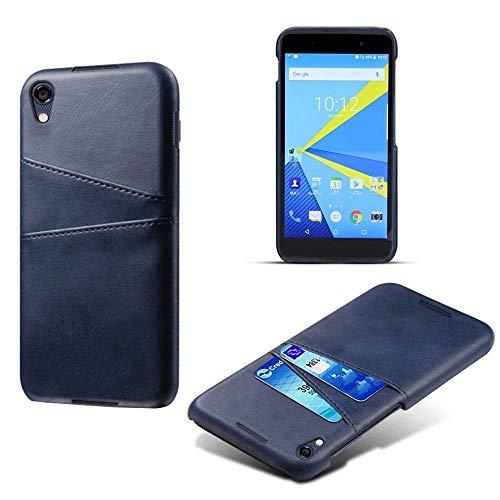 für BlackBerry DTEK 50 / DTEK 60 / Keyone Key One DTEK 70 / Keytwo Key Two 2 Key2 Business Cover Hybrid Schutzhülle Wallet Shell Retro PU Leder Hülle mit Rückbank Card Slot, for DTEK 50, dunkelblau