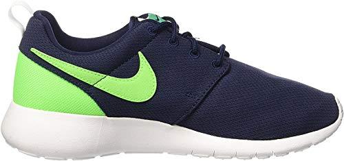 Nike Roshe One (gs), Unisex-Kinder Hallenschuhe, Blau (Obsidian/Vltg Grn-Lcd Grn-Wht), 38.5 EU
