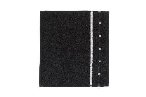 Vossen Quadrati Uni Waschlappen/Seiftuch 3er Set Größe: 30 x 30 cm Farbe: 054 / schwarz/weiß