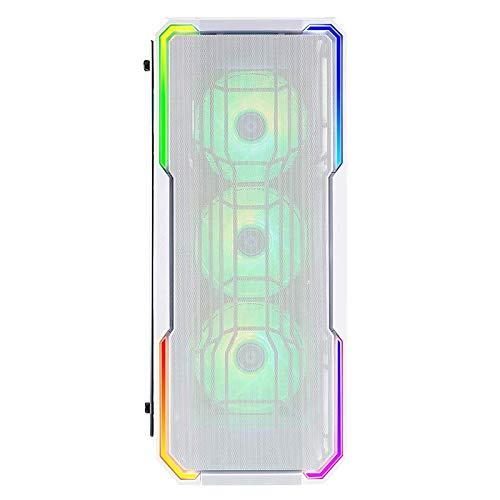 BitFenix Enso Mesh - Caja PC Gaming ATX con iluminación RGB y ventana de cristal templado, color Blanco (BFC-ESM-150-WWWGK-RP)