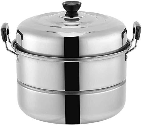 MKOIJN Pentola a Vaporiera Acciaio Inox Steamer Pot 2 Strati di Cottura a Vapore Pan Imposta induzione Piano di Cottura Gas Universale Stock Pot (Size : 28cm)