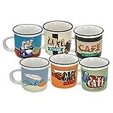 Natives 612850el café en Todos Sus Estados Set de 6Tazas de café (Cristal, 6Piezas, Multicolor