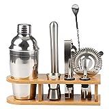 HKJZ SFLRW Juego de coctelera de Kit de Barman - 10 Piezas Set de Barman Sistema de Martini con Soporte de Herramientas de Barra Bebida Drinking Starter (Size : 750ML)