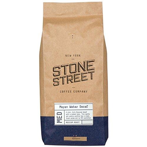 Stone Street Decaf Coffee, Ground, Swiss Water Process Naturally Decaffeinated Coffee, Medium Roast, 2 LB