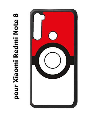 coque-personnalisable® Coque pour Xiaomi Redmi Note 8 Pokémon Go Pokeball - Caoutchouc Contour Noir (Xiaomi Redmi Note 8)