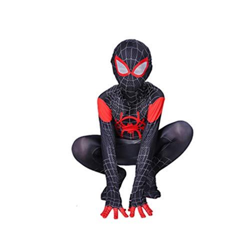 Spiderman kostuum kind thuiskomst halloween carnaval superheldin spiderman kind kostuum cosplay pak spiderman mascara kind 100-110cm Zwart