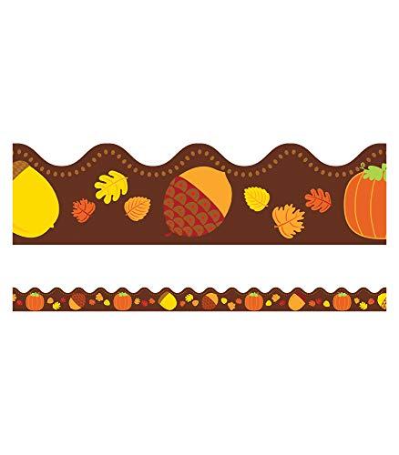 Acorns and Pumpkins Bulletin Board Borders, Carson Dellosa Classroom Decorations, 39 Feet