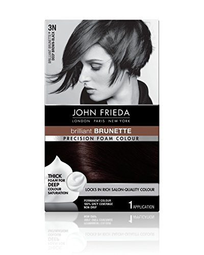 John Frieda Precision 3n Foam Permanent Colour, Deep Brown Black - Kit, 2.4 Oz