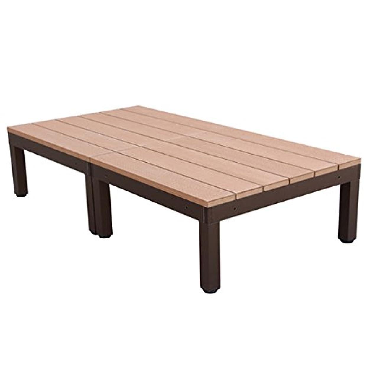 単独でに負ける取り扱いigarden アイガーデン アイウッドデッキPLUS 2点セットナチュラル アイガーデンオリジナル人工木ウッドデッキ、樹脂木、木樹脂、プラウッド、ウッドデッキセット、木製デッキ、縁台