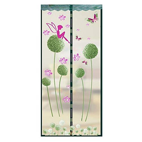 Sommer Haushalt Anti-Moskitonetz Verschlüsselung Magnet Anti-Moskitonetz Tüll Tür Bildschirm Fenster magnetische Holz Moskitonetz Tür A2 B90xH210