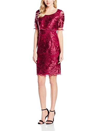 Jacques Vert Women's Petite Lace Layer Dress, Red (mid Purple), 12