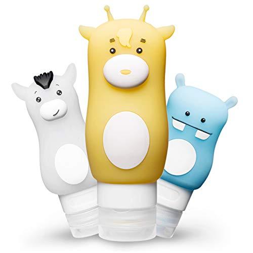 CHSEEO 3 Piezas Botellas de Viaje Bote de Silicona Contenedor de Viaje Recipientes Accesorios de Viaje para Líquidos Champú Loción Artículos de Tocador #1