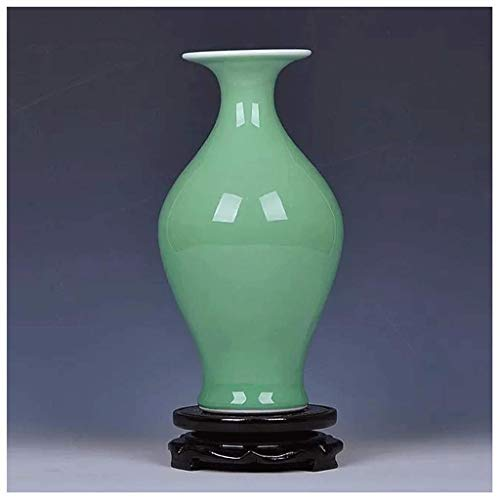 Vase Jardiniere Creative Novel Green Glaze Antique Keramik Porzellan Schreibtisch Couchtisch Handwerk Moderne Zeitgenössische Home Haushalt Desktop Wohnzimmer Blume Anordnung für Schlafzimmer Wohnzim