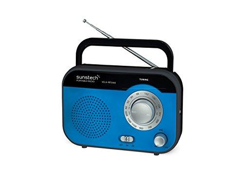 Sunstech Rps560Bl - Radio de Sobremesa Am/FM, Altavoz, 800 MW Rms, Azul