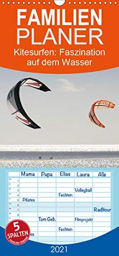 Kitesurfen – Faszination auf dem Wasser - Familienplaner hoch (Wandkalender 2021, 21 cm x 45 cm, hoch)