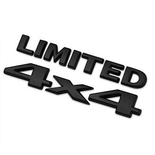 DSYCAR 4 X 4 +Limited Chrome 3D Decal Emblem Sticker Nameplate Badge Decoration for Jeep Grand Cherokee Wrangler Compass (Black)
