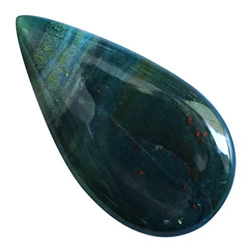 Cabujón natural de piedra de sangre verde natural, 33x18x5MM, colgante de piedra, fabricación de joyas, Proveedores de piedras de sangre, 24203