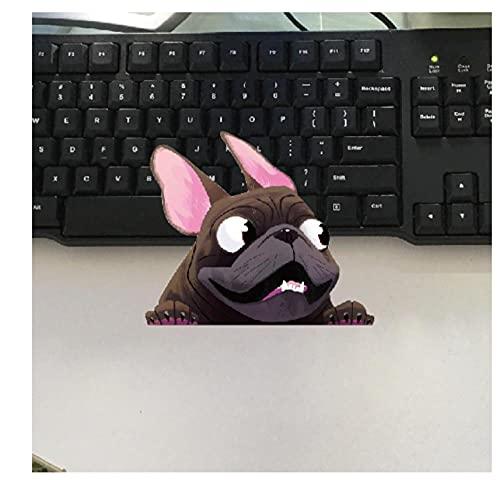 MDGCYDR Adesivo per Auto Cane 13 Cm X 11 Cm Bulldog Francese Sticker Pet Dog Decalcomania del Vinile Animale Cartoon Carino Adesivi per Auto Accessori per Paraurti Impermeabili