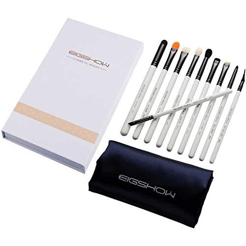 Pinceau de maquillage LHY- 10 pièces Set, Pinceau Fond de Teint, Soft, maquilleuse Professionnelle, Outils de Maquillage avancées, Un Ensemble Complet Mode (Color : Bright Gun Color)