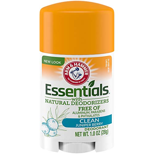 ARM & HAMMER Essentials Deodorant with Natural Deodorizers Clean, 1.0 oz.