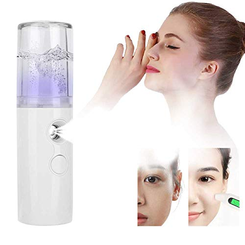 Handy Face Steamer, Nano Sprayer Nano Face Steamer Face Umidifier Sprayer Donna Uomo Idratante(bianca)