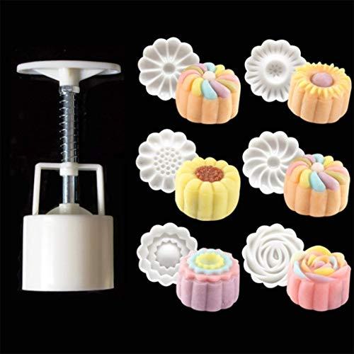 LXDDP 3D Moon Cake Pie} {{Blumen Fondant Kuchenform Candy Mould} {& ndash; Ananas-Süßigkeit-Kuchen-Gelee-Form} Hochzeit DIY verziert, der Schwarze Freitag