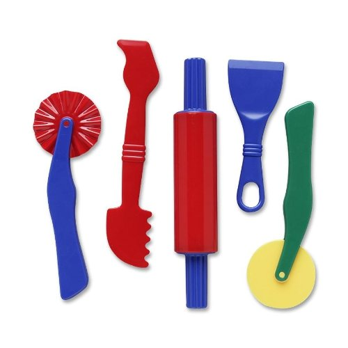 Creativity Street Dough Tools, 5 Assorted Patterns, 5' to 8', 5 Pieces