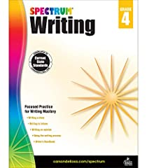 Spectrum Writing for grade 4 guides students through each step of the writing process. Lessons support current state standards. Spectrum titles provide quality, research-based educational resources that support student learning achievement and succes...