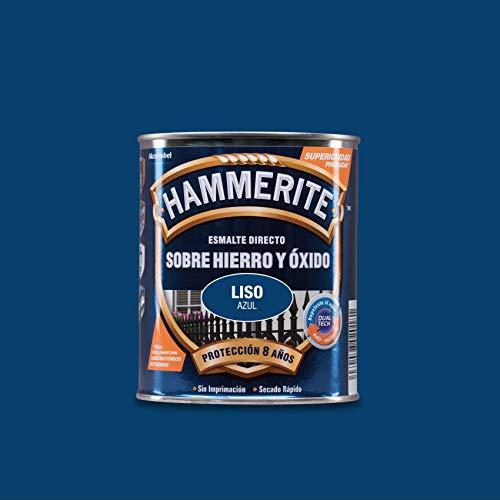 Hammerite Esmalte directo sobre hierro y óxido Liso Brillante Azul 750 ml