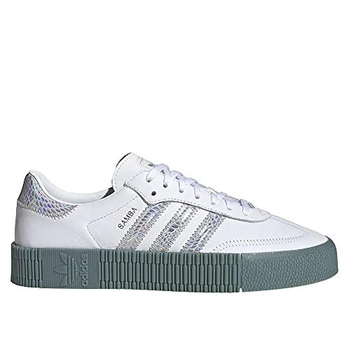 adidas SAMBAROSE W, Zapatillas Deportivas Mujer, FTWR White Supplier Color Hazy Emerald, 41 1/3 EU