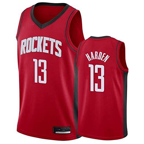 MMQQL Baloncesto, NBA Rockets # 13 Camiseta de Baloncesto Masculino Harden Retro Gimnasia Chaleco Deportes Top,B,M:175cm/65~75kg