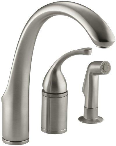 KOHLER K-10430-BN Forté(R) 3-Hole Remote Valve Sink 9' spout with Matching Finish sidespray Kitchen...