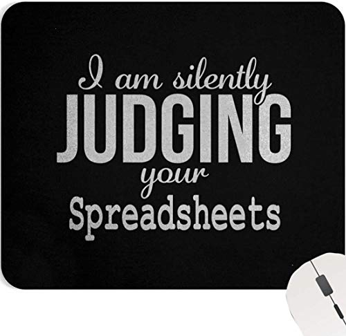 Accountants Mousepads Accounting 9 Inch Mouse Pad Gift - Accountant Funny Spreadsheets Humor Accounting Gift Black Mouse Mat