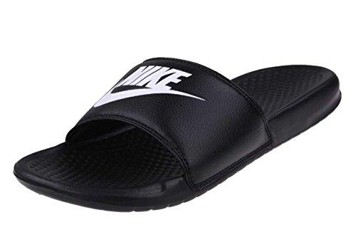 Nike Men's Benassi Just Do It Athletic Sandal, Black/White Noir/Blanc, 11.0 Regular US