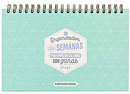 Mr. Wonderful Organizador de semanas para Empezar los Lunes con ganas, Multicolor, 0