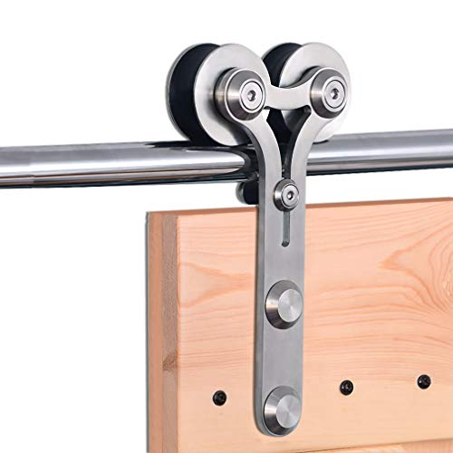 274cm/9FT Edelstahl Laufschiene Schiebetürbeschlag,Innentüren Schiebetürsystem für Schiebetüren, für Holztür -stainless steel sliding barn wood door