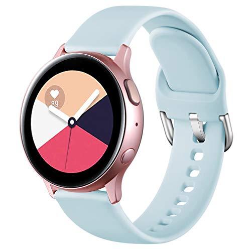 Wepro Correa Compatible con Samsung Galaxy Watch Active/Active2 40mm 44mm, Correa de Repuesto de Silicona Suave para Samsung Galaxy Watch 42mm/Watch 3 41mm/Gear Sport, Pequeño Azul